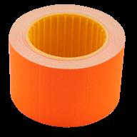 Ценник 35x25 мм (240 шт, 6 м), прямоугольный, внешняя намотка, оранжевый