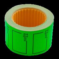 "Ценник 35x25 мм, ""ЦІНА"",  (240 шт, 6 м),  прямоугольный, внешняя намотка, зеленый"