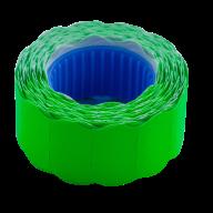 Ценник 22x12 мм (500 шт, 6 м), фигурный, внешняя намотка, зеленый