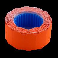 Ценник 22x12 мм (500 шт, 6 м), фигурный, внешняя намотка, оранжевый