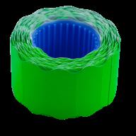 Ценник 26x12 мм (500 шт, 6 м), фигурный, внешняя намотка, зеленый
