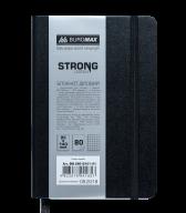 Блокнот деловой STRONG, L2U, 95x140 мм, 80л., клетка,черный, иск.кожа