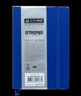 Блокнот деловой STRONG, L2U, 95x140 мм, 80л., клетка, т.-синий, иск.кожа