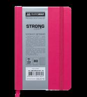 Блокнот деловой STRONG, L2U, 95x140 мм, 80л., клетка, розовый, иск.кожа