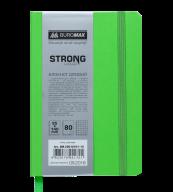 Блокнот деловой STRONG, L2U, 95x140 мм, 80л., клетка, салатовый, иск.кожа