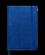 Блокнот деловой INGOT, 95x140 мм, 80 л., клетка, синий, иск. кожа