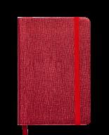 Блокнот деловой INGOT, 95x140 мм, 80 л., клетка, красный, иск. кожа