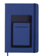 Блокнот деловой COMFORT, А5, 96 л., нелинов., синий, иск.кожа