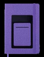 Блокнот деловой COMFORT, А5, 96 л., нелинов., фиолетовый, иск.кожа