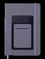 Блокнот деловой COMFORT, А5, 96 л., нелинов., серый, иск.кожа