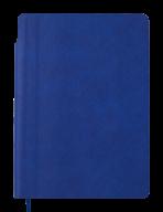 Блокнот деловой FRESH, А5, 96 л., нелинов., синий, иск.кожа