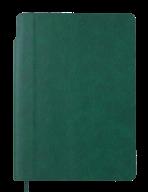 Блокнот деловой FRESH, А5, 96 л., нелинов., зеленый, иск.кожа