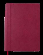 Блокнот деловой FRESH, А5, 96 л., нелинов., т.-красный, иск.кожа