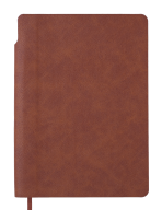 Блокнот деловой FRESH, А5, 96 л., нелинов.,коричневый, иск.кожа