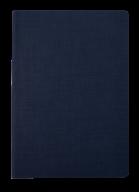 Блокнот деловой COLOR TUNES, А5, 96 л., клетка, т-синий, иск.кожа