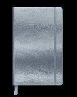 Блокнот деловой INGOT, 95x140 мм, 80 л., клетка, еребристый, иск. Кожа
