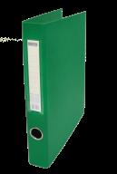 $Регистратор двухст., зеленый, А4, 40 мм, 2 D-обр.кольца
