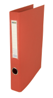 $Регистратор двухст., красный, А4, 40 мм, 2 D-обр.кольца