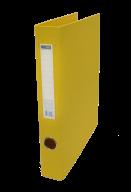 $Регистратор двухст., желтый, А4, 40 мм, 2 D-обр.кольца