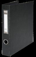 $Регистратор двухст., черный, А4, 40 мм, 4 D-обр.кольца