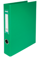 $Регистратор двухст., зеленый, А4, 40 мм, 4 D-обр.кольца