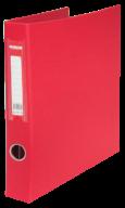 $Регистратор двухст., красный, А4, 40 мм, 4 D-обр.кольца