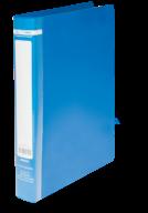$Папка пласт., JOBMAX, 2 R-обр.кольца, А4, ширина торца 25 мм, синяя