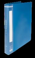 $Папка пластик., 2 R-обр.кольца, А4, ширина торца 25 мм, синяя