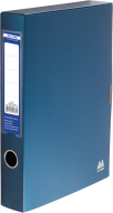 $Папка-бокс для документов на липучке, 235х320х55 мм,темно-синяя