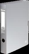 $Папка-бокс для документов на липучке, 235х320х55 мм, серая