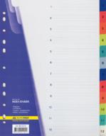 $Цифровой индекс-разделитель для регистраторов А4, (цифры от 1 до 12), 12 позиций