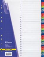 $Цифровой индекс-разделитель для регистраторов А4, (цифры от 1 до 31), 31 позиций