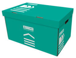 /Короб для архивных боксов, 560х380х265 мм, бирюзовый