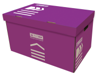 /Короб для архивных боксов, 560х380х265 мм, фиолетовый