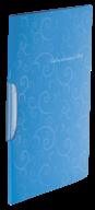 @$Папка-скоросшиватель с поворотным прижимом, BAROCCO, А4, голубая