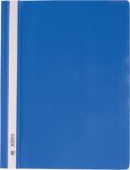 """$Папка-скоросшиватель с механизмом """"усики"""", А4, 120/160 мкм, синяя"""