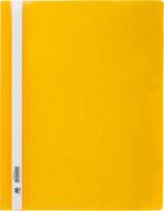 """$Папка-скоросшиватель с механизмом """"усики"""", А4, 120/160 мкм, желтая"""
