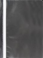 """$Папка-скоросшиватель с механизмом """"усики"""", JOBMAX, А4, 110/110 мкм, черная"""