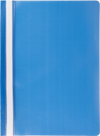 """$Папка-скоросшиватель с механизмом """"усики"""", JOBMAX, А4, 110/110 мкм, синяя"""