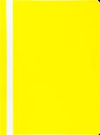 """$Папка-скоросшиватель с механизмом """"усики"""", JOBMAX, А4, 110/110 мкм, желтая"""