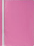"""$Папка-скоросшиватель с механизмом """"усики"""", JOBMAX, А4, 110/110 мкм, розовая"""
