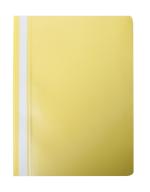 """@$Папка-скоросшиватель с механизмом """"усики"""", А4, 120/180 мкм, желтая"""