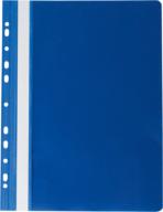"""Папка-скоросшиватель с механизмом """"усики"""" PROFESSIONAL, А4, 150/180 мкм, с перфорацией, темно-синяя"""