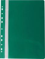 """Папка-скоросшиватель с механизмом """"усики"""" PROFESSIONAL, А4, 150/180 мкм, с перфорацией, зеленая"""