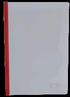 @$/Папка-скоросшиватель с прижимной планкой, 10 мм, 160/160 мкм, красная