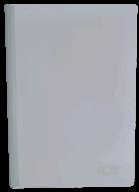/Папка-скоросшиватель с прижимной планкой, 10 мм, 160/160 мкм, белая