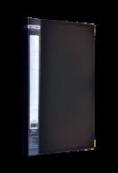 $Папка пластиковая  боковым прижимом, JOBMAX, A4, черная