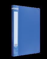 $Папка пластиковая  боковым прижимом, JOBMAX, A4, синяя