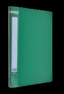 $Папка пластиковая  боковым прижимом, JOBMAX, A4, зеленая