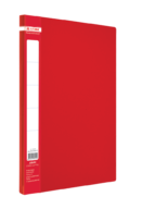 $Папка пластиковая  боковым прижимом, JOBMAX, A4, красная